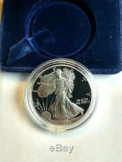 1994 Silver Eagle Proof 1 Once Avec La Boîte, Affichage Cas Et L'aco