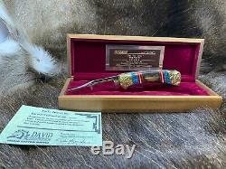 1995 Buck David Yellowhorse 112 Trout Personnalisés Couteau Menthe Présentoir Coa