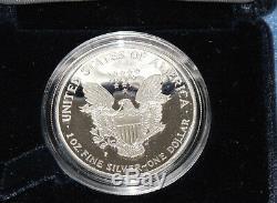 1997-p American Eagle Gem Argent Dcam Épreuve Avec Affichage Cas Et L'aco E1917