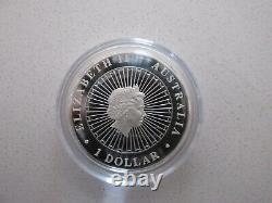 2012 Australien Fine Silver $1 Opal Series Wombat Avec Cas D'affichage, Coa, Boîte