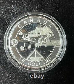 2013 O Canada 10,9999 $ Argent Fin 12 Pièce De Monnaie Avec Coa & Vitrine