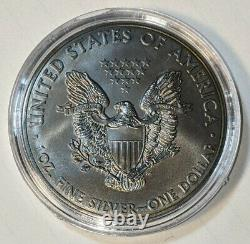 2014 Américain Silver Eagle Brûler Liberté D'argent Dans Un Once D'affichage De Cas Avec Coa