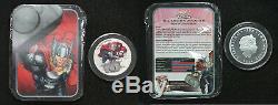 2014 Marvel Avengers Niue Argent 4 1 Oz Coin Set Avec Coa & Display Case / Boîte