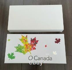 2014 O Canada 10,9999 $ Fine Silver 10 Coin Set With Coa & Display Case