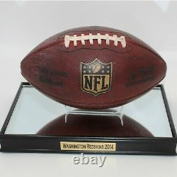 2014 Redskins Vs Dallas Game Used Football With 2014 Redskins Display Case (coa)