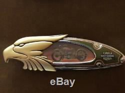 6 Franklin Mint Harley Davidson Couteaux Avec Affichage De Cas Et Plans D'action