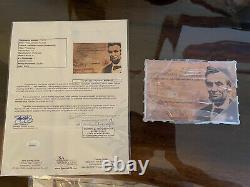 Abraham Lincoln Verbe Authentique Écrit À La Main Acrylique Cas D'affichage Jsa Loa Coa