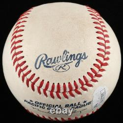 Addison Russell Signé Game-used Baseball With Display Case (jsa Coa) Cubs S. S