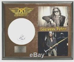 Aerosmith Steven Tyler Autographié Tambour Afficher Shadowbox Customisés Coa 100%
