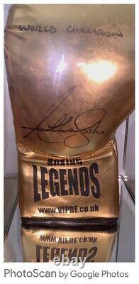 Aj Anthony Joshua Signed Ltd Edit Glove In Glass Display Cas Coa £240 Livré