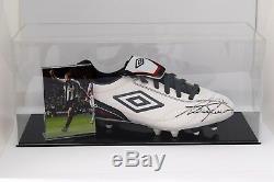 Alan Shearer Présentoir De Chaussures De Football Autographes Signé Newcastle Coa