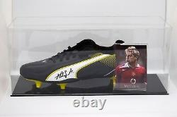 Alan Smith A Signé Autographe Football Boot Display Case Manchester Utd Coa