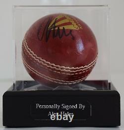 Alex Hales A Signé Autograph Cricket Ball Display Case Sport England Aftal & Coa