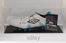 Ally Mccoist Signé Autograph Football Boot Display Case Rangers Aftal Coa