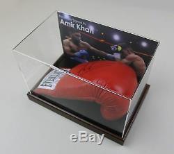 Amer Khan, Signé, Gants, Boxe, Vitrine, Autographe, Champions, Coa