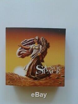 Américain Silver Eagle Once D'espace En Mode D'affichage De Cas Et Coa