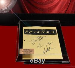 Amis Original Signé Script, X3 Cast Autograph, Coa Uacc DVD Set Vitrine