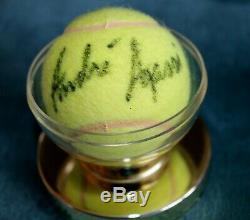 Andre Agassi Autographié Balle De Tennis Avec Le Cas D'affichage, Coa