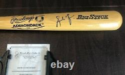 Andruw Jones A Signé Rawlings Pro Ring Bat De Baseball Avec Boîtier D'affichage Clair Et Coa