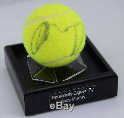 Andy Murray Signed Autograph Balle De Tennis Vitrine Wimbledon Aftal Coa