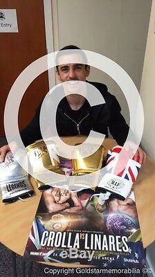 Anthony Crolla Etui Gant De Boxe Signé Preuve Du Champion Du Monde Rare Coa
