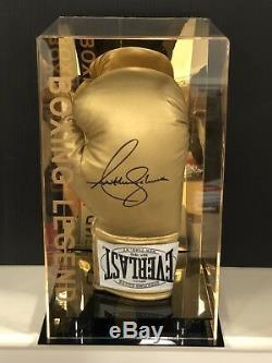 Anthony Joshua Signé Gant De Boxe Cas Aj Display Bxng Champion Du Monde Aftal Coa