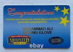 Authentique Muhammad Ali Signé Gants De Boxe Autographe Avec Boîtier Coa & Display