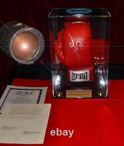 Autographe Signé Sugar Ray Leonard Wba Boxing Glove, Display Case, Coa, Uacc