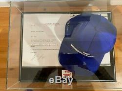 Ayrton Senna A Signé Cap Ainsi Signé La Lettre Avec Affichage Coa Et Hq Cas