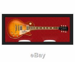 B. B. Présentoir De Guitare 6 Cordes Autographié Et Signé Par Le Roi Aftal Uacc Rd Coa