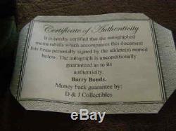 Barry Bonds Mini Casque Autographié Avec Des Personnages Des San Francisco Avec San Francisco, Canada