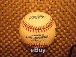 Barry Bonds Mvp Dédicacé Autographié Au Baseball 4 Temps Avec Présentoir Et Certificat D'authenticité