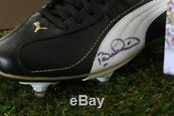Bebeto Signé Chaussure De Football Vitrine Brésil Autograph Souvenirs Coa