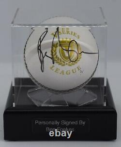 Ben Foakes Signé Autograph Cricket Ball Display Case Angleterre Aftal Coa