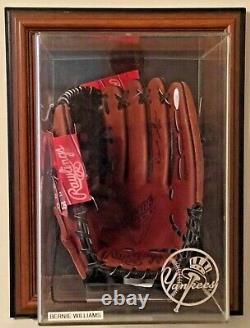 Bernie Williams Signé Rawlings Baseball Glove Jsa Coa Ny Yankees Display Case