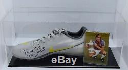 Billy Bonds Signé Autograph Football Boot Display Case West Ham Utd Aftal Coa