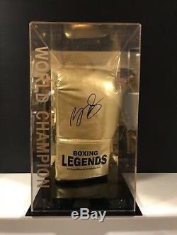 Billy Joe Saunders Signée À La Main Gants De Boxe Dans Un Cas D'affichage Coa Aftal