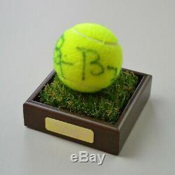 Bjorn Borg Présentoir Pour Autographes De Balle De Tennis Signé Wimbledon Memorabilia Coa