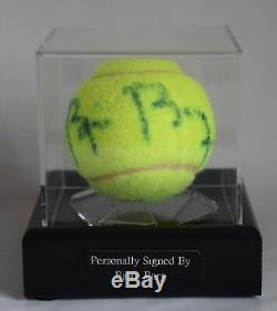 Bjorn Borg Signé Affichage Autograph Balle De Tennis Case Sport Aftal & Coa