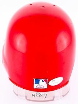 Bob Gibson Signé Cardinals Mini Batting Casque Avec Affichage De Cas (jsa Coa)
