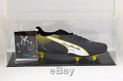 Bobby Charlton Signé Autograph Football Boot Display Case Manchester United Coa