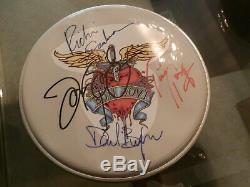 Bon Jovi @ Band Signe Guitare Parche Withpick, Vitrine Avec Coa Impressionnant