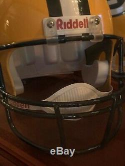 Brett Favre Mvp NFL Autographié Pleine Taille Casque En Cas D'affichage, Coa, Photo