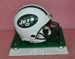Brett Favre Signé New York Jets Taille Casque Intégral Avec Coa De Cas D'affichage