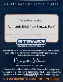 Brique Authentique Boston Red Sox De Fenway Park Avec Vitrine (steiner Coa)