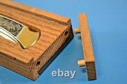 Buck Custom 110 Eagle Mountain Pliant Couteau Ltd Ed Cas D'affichage #0167 Avec Coa