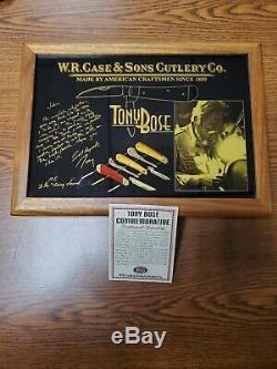 Cas Tony Bose Commémoratif 3 Pc. Avec Boîte D'affichage D'origine Et Coa