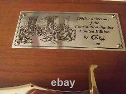 Cas XX 200e Anniversaire De La Signature De La Constitution Avec Coa & Plaque D'affichage