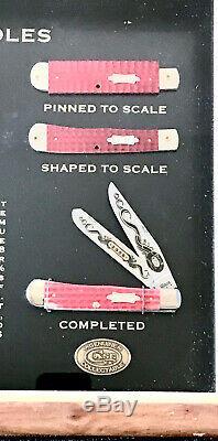 Case XX 2008 Couteau Revendeur Affichage 6254 Trapper, Monnaie, Avec Affichage Boîte & Coa