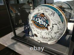 Casque Officiel Du Super Bowl 37 Signé Par Les Raiders D'oakland Aveccoa & Display Case